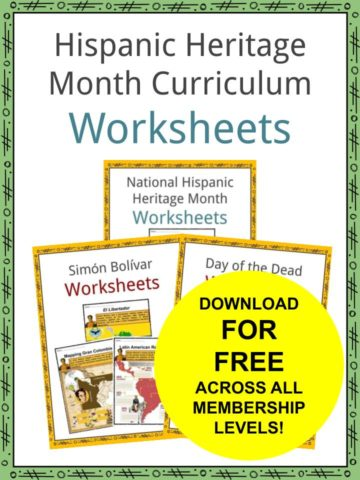 Hispanic Heritage Month Curriculum Worksheets