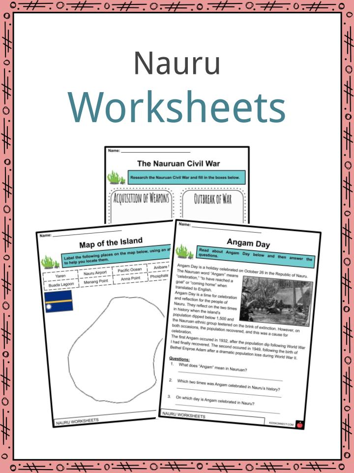 Nauru Worksheets