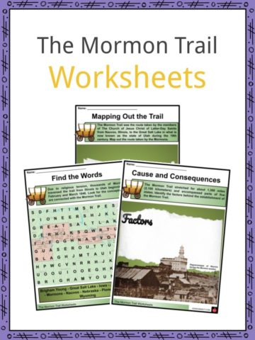 The Mormon Trail Worksheets