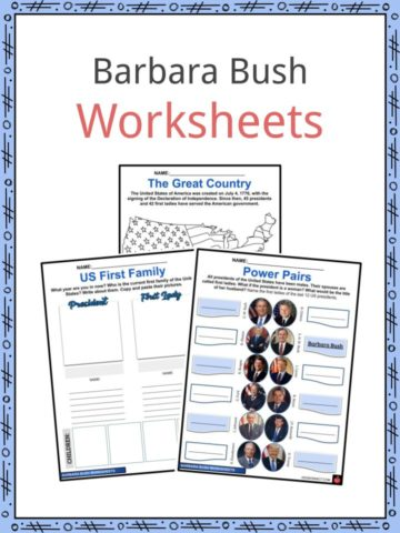 Barbara Bush Worksheets
