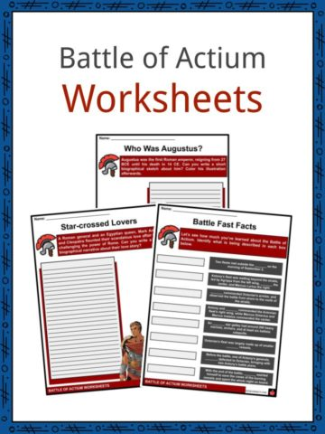 Battle of Actium Worksheets