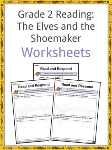 Grade 2 Literature The Elves and the Shoemaker Worksheets