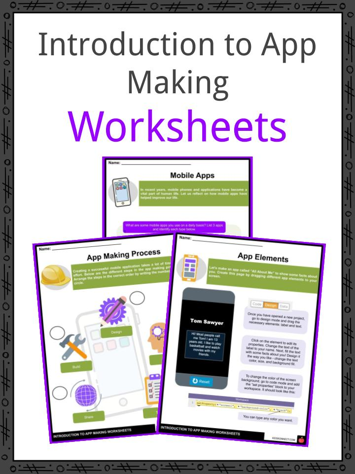 Introduction to App Making Worksheets
