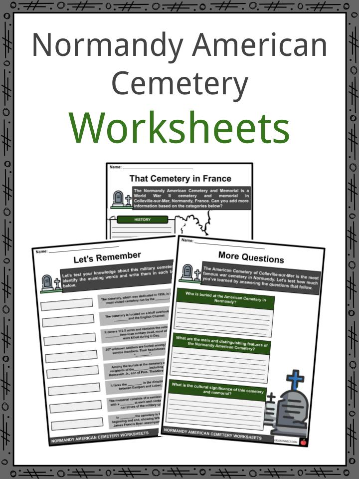 Normandy American Cemetery Worksheets