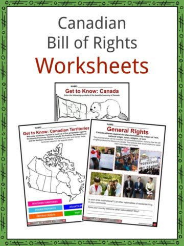 Canadian Bill of Rights Worksheets