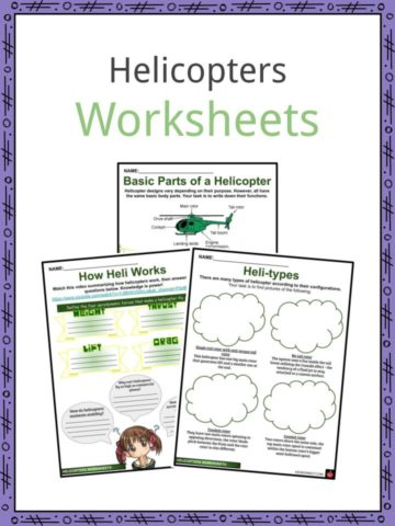 Helicopters Worksheets