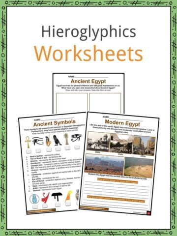 Hieroglyphics Worksheets