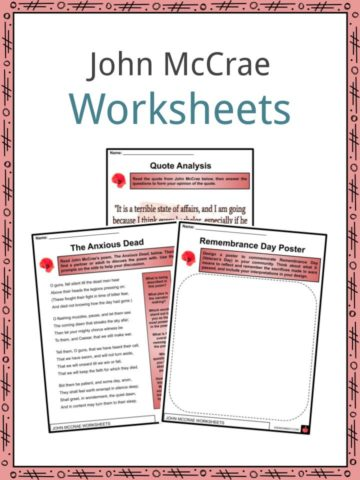 John McCrae Worksheets