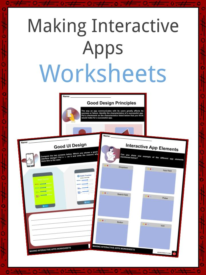 Making Interactive Apps Worksheets