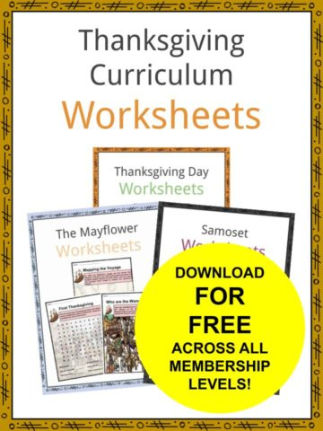 Thanksgiving Curriculum Worksheets