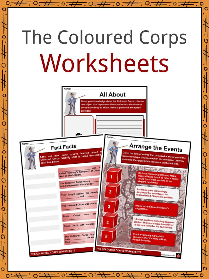 The Coloured Corps Worksheets