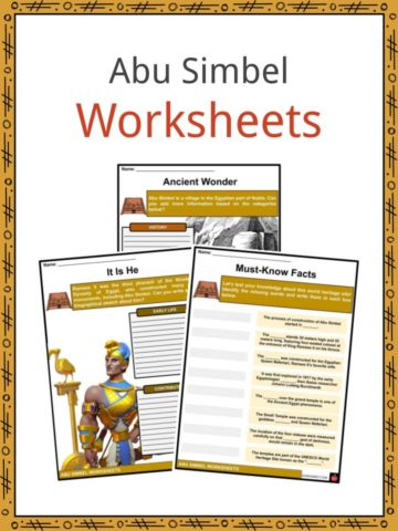 Abu Simbel Worksheets