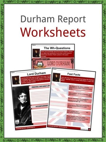 Durham Report Worksheets