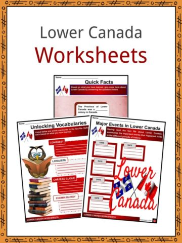 Lower Canada Worksheets