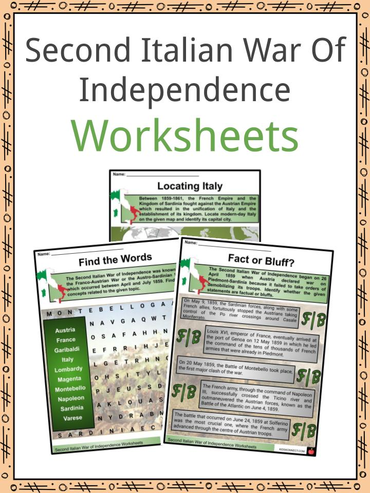 Second Italian War of Independence Worksheets