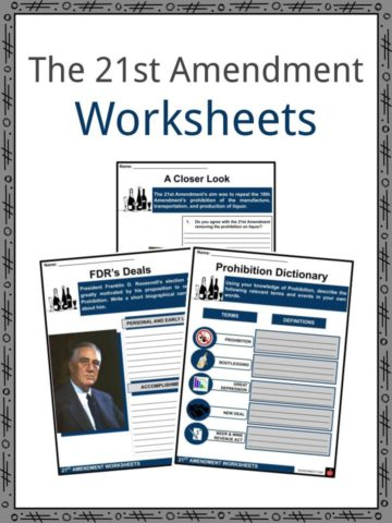 The 21st Amendment Worksheets