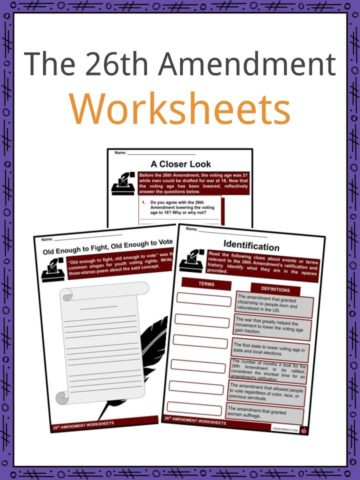 The 26th Amendment Worksheets