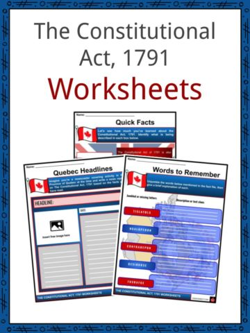 The Constitutional Act, 1791 Worksheets