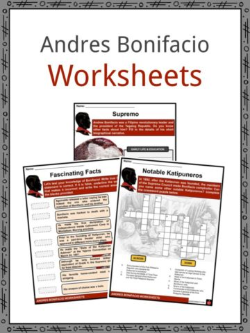 Andres Bonifacio Worksheets