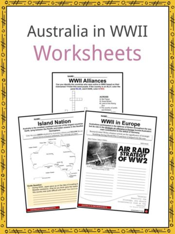 Australia in WWII Worksheets