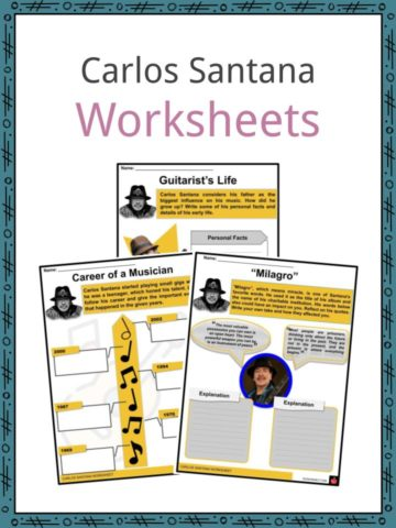 Carlos Santana Worksheets