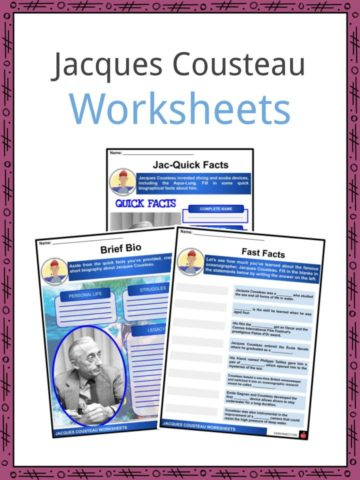 Jacques Cousteau Worksheets