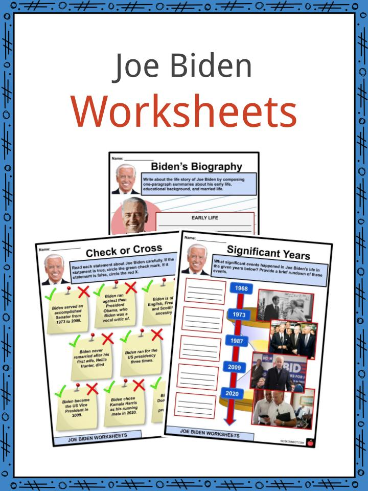 Joe Biden Worksheets