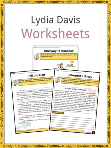 Lydia Davis Worksheets