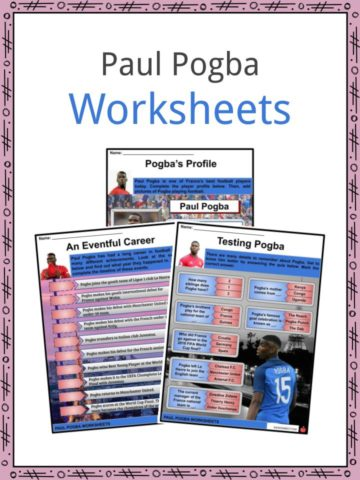 Paul Pogba Worksheets