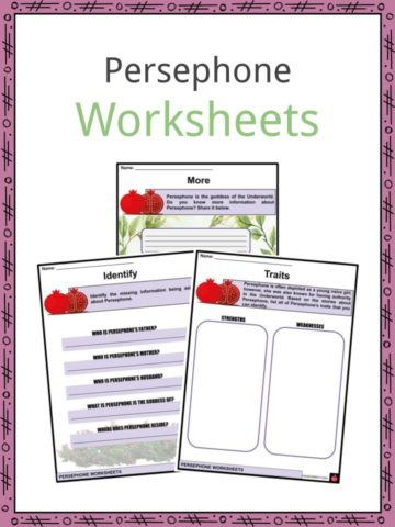 Persephone Worksheets