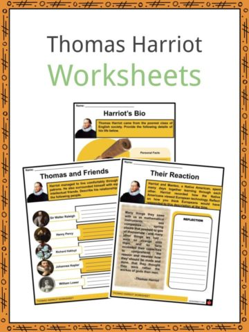 Thomas Harriot Worksheets
