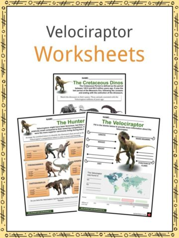 Velociraptor Worksheets