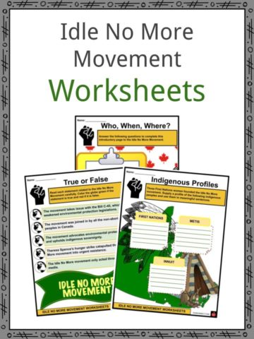 Idle No More Movement Worksheets