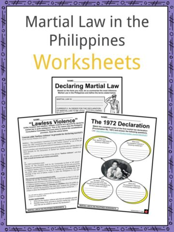 Martial Law in the Philippines Worksheets