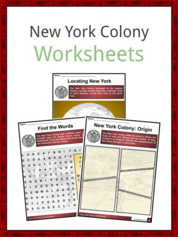 New York Colony Worksheets